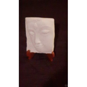 "BOUDDHA SERENITE PLAQUE ET SUPPORT  4""X5.5""H"