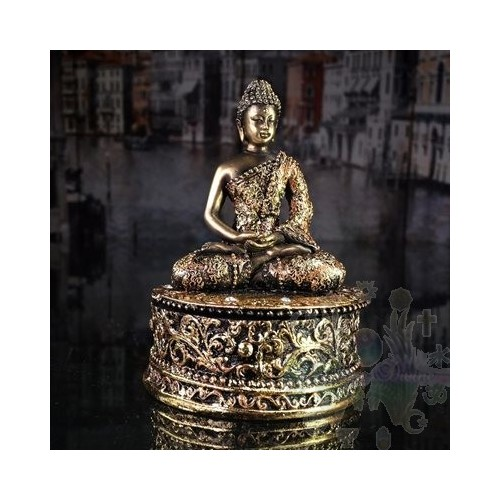 Bouddha - boite à souhaits, à bijoux ou autres 4 x 4 x 9