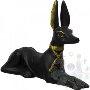 """FIGURINES EGYPTIENNE 2.25"""""""" Bastet noir Anubis"""