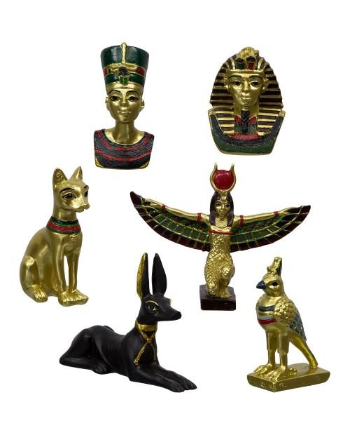 lot de 6 FIGURINES EGYPTIENNE