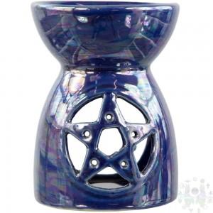 """Diffiseur ceramique pentacle bleu 4""""h"""