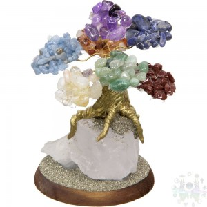 "BONSAI PIERRE SEMI-PECIEUSE  4""X2.75"" CHAKRAS"