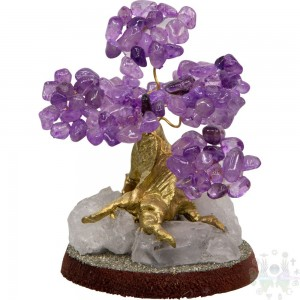 "Bonsai  pierre semi precieuse .4""x2.75""-amethyste"