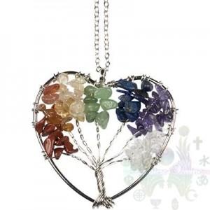 """Collier-arbre vie-coeur a/c chaine 2""""x2"""""""