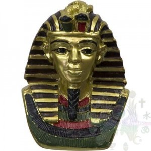 "FIGURINE EGYPTIENNE  2.25"" bustes Pharaon"