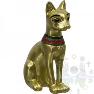 "Figurines egyptienne 2.25""  bastet or"