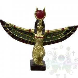 "FIGURINE EGYPTIENNE 2.25"" ailes déesse Isis"
