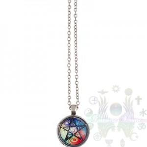 Pendentenf verre-astr 4 elements 25mmdia