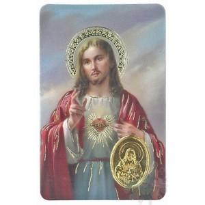 carte médaille sacré cœur