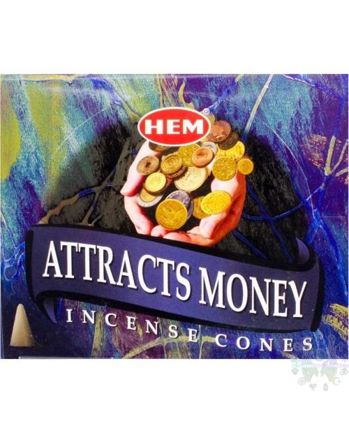 Encens Cones attire l'argent