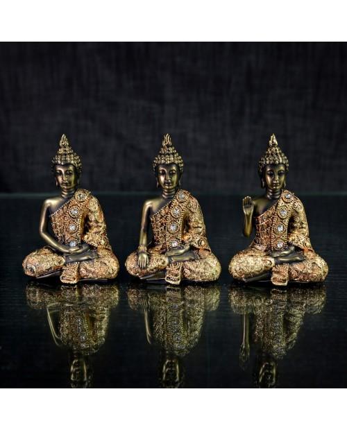 Set de 3 bouddha 6x4x9''