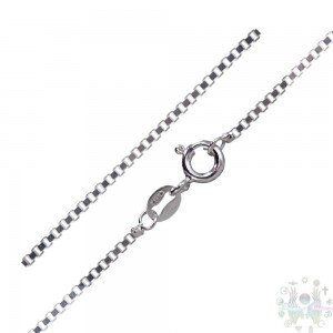 CHAINE ARGENT STERLING/MAILLES CARReES-20""