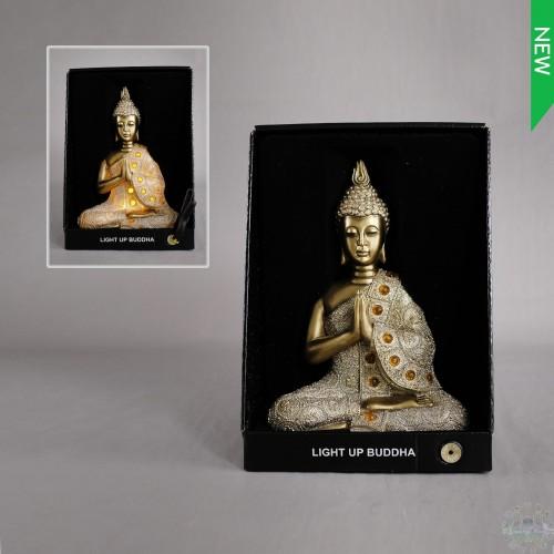 BUDDHA w/LIGHT 8x4x11