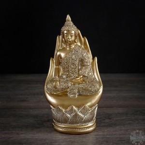 Bouddha assis sur une main  4x3x7