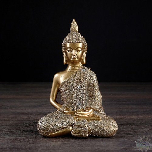 Statue de Bouddha assis or 5x3x7