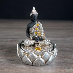 Boite à souhait -bouddha en méditation 4x5