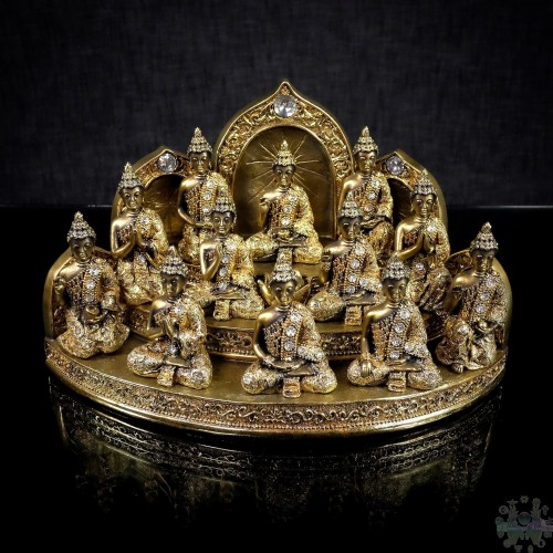 BUDDHAS W/BASE DECORATION 13x7x8''