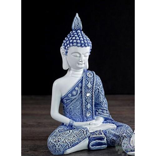 Bouddha Bleu et Blanc 5x3x7