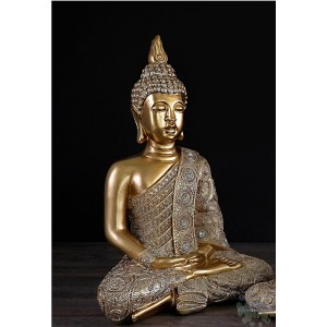 Bouddha assis or 10x7x16