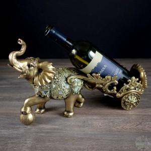 Éléphant Porte-bouteilles  de vin 15x5x9