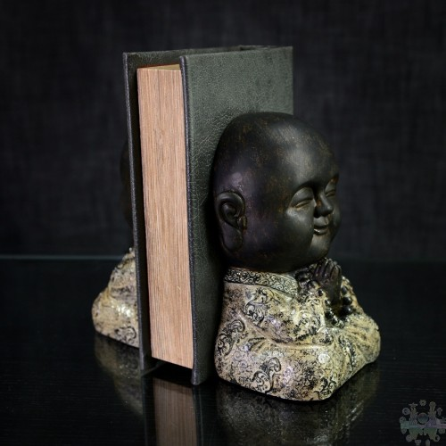 S/2 PRAYING MONK BOOKENDS