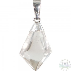 """Pendentifs forme de diamant en cristal clair-0,5""""-1,25"""""""