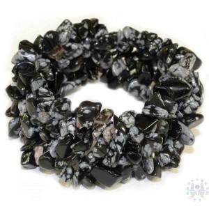 Bracelet Web Flocon de Neige Obsidienne