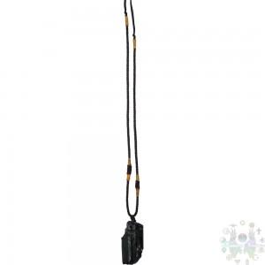 Collier ajustable - tourmaline noire brute