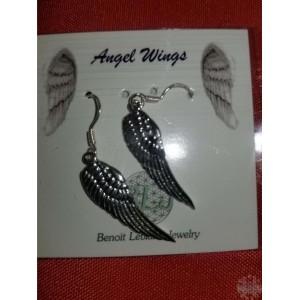 Boucles d'oreilles -ailes d'ange Argent Sterling