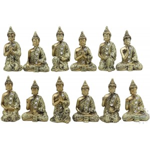 BUDDHAS W/BASE DECORATION 13x7x8''