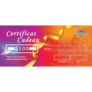 Certificat cadeau-100